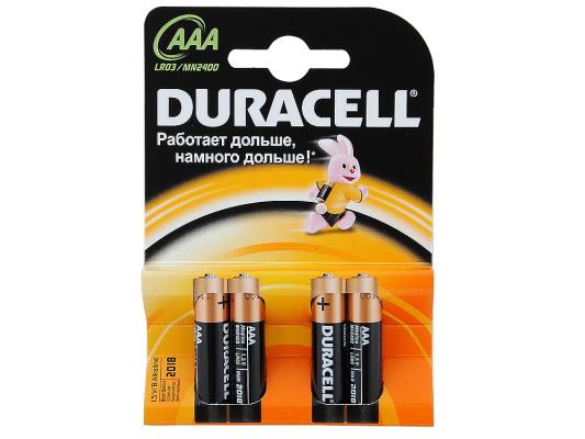 Батарейки Duracell LR03-4BL AAA 4 шт duracell cef14 4 hour charger 2 x aa1300mah