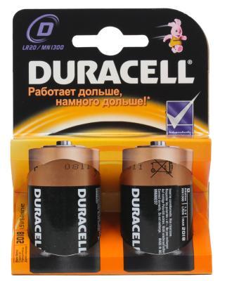 Фото - Батарейки Duracell Basic LR20 2 шт батарейки sonnen alkaline d lr20 13а алкалиновые комплект 2 шт в блистере 451091