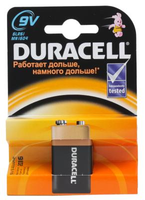 Батарейка Duracell 6LR61-1BL/6LF22/6LP3146 6LR61 1 шт kenwood kfc m1634a black