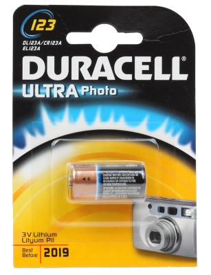 Батарейка Duracell Ultra Lilhium CR123A 1 шт батарейка cr123a kodak ultra cr123a 3v bl1 1 штука