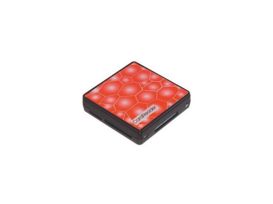 Карт-ридер USB 2.0 Konoos UK-15, 5 разъемов для карт памяти (SD/MMC/SDHC/MS/M2/XD/TF), коробк
