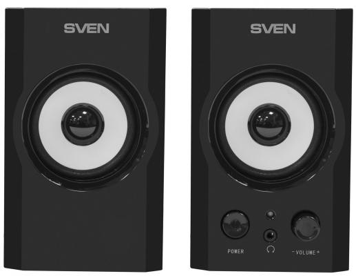 Колонки Sven SPS-605    2 х 3 Вт    100–18000 Гц    дерево  черные