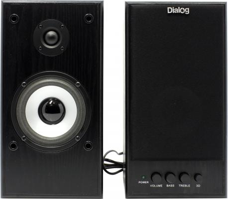 Колонки Dialog W-204 Black,50W,RMS-2.0