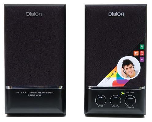 Колонки Dialog Disco AD-05 Black 20W RMS-2.0