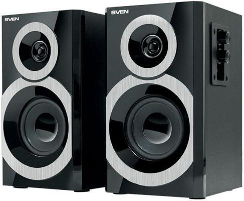 Колонки Sven SPS-619 2х10Вт 2х полосные черные выход на наушники