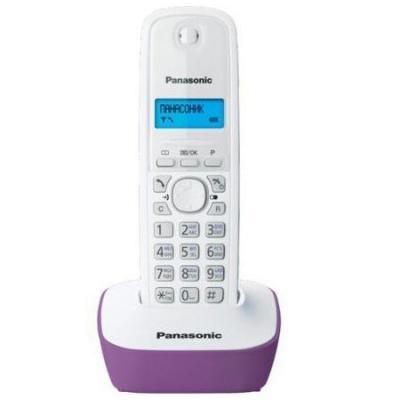 Телефон Panasonic KX-TG1611RUF атс panasonic kx tem824ru аналоговая 6 внешних и 16 внутренних линий предельная ёмкость 8 внешних и 24 внутренних линий