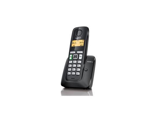 Телефон Gigaset А220A Black (Dect, автоответчик) телефон беспроводной dect philips d1302b 51 black