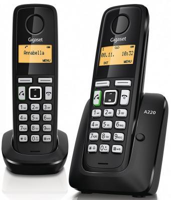 Телефон Gigaset А220 Duo Black (Dect, две трубки) радиотелефон gigaset a120 white