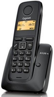 Телефон Gigaset А120A Black (Dect, автоответчик) телефон беспроводной dect philips d1302b 51 black