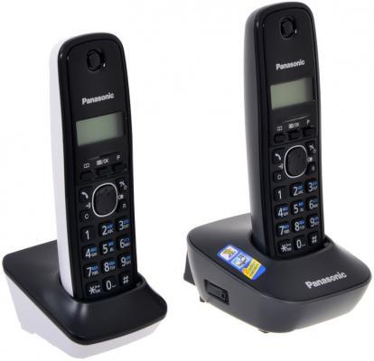Телефон Panasonic KX-TG1612RU1 (две трубки) телефон panasonic kx dt546rub черный