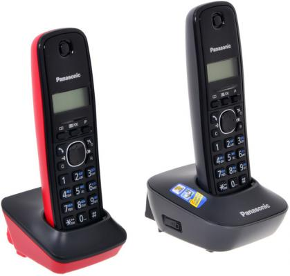 Телефон Panasonic KX-TG1612RU3 (две трубки) радиотелефон panasonic kx tg1612 ru1 grey white