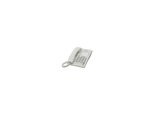 Телефон Panasonic KX-TS2363RUW (Спикер, автодозвон, память 10+20) телефон проводной panasonic kx ts2350ru