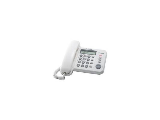 Телефон Panasonic KX-TS2356RUW проводной телефон panasonic kx ts2356 белый kx ts2356ruw