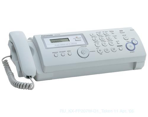 Факс Panasonic KX-FP207RU (обыч. бумага) от 123.ru