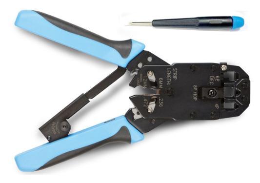 Обжимной инструмент Hyperline R-11,12 ,45 (HT-2008R\\AR) набор инструментов hyperline ht ntk160 23370