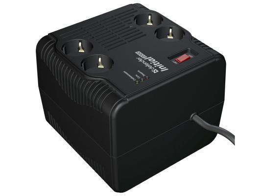 Стабилизатор напряжения DEFENDER AVR Initial 2000 черный 4 розетки 0.6 м