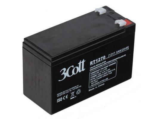 Аккумулятор 3Cott 12V7Ah аккумулятор 3cott 12v5 0ah