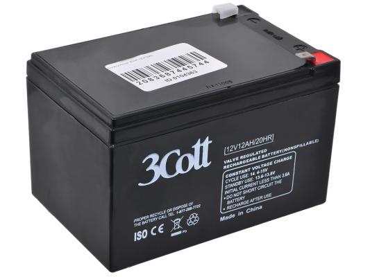 Аккумулятор 3Cott 12V12Ah аккумулятор 3cott 12v4 5ah