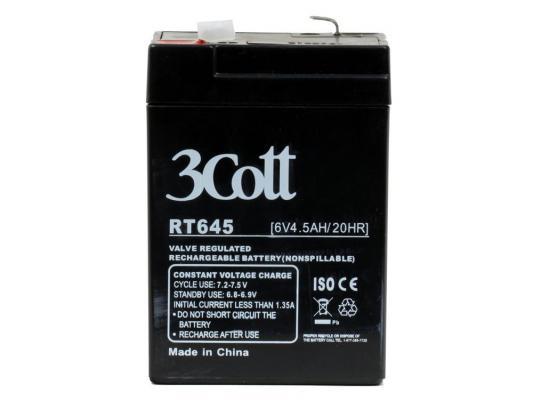 Аккумулятор 3Cott 6V4.5Ah аккумулятор 3cott 12v5 0ah