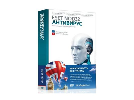 Антивирус Eset NOD32 Антивирус (NOD32-ENA-1220(BOX)-1-1) программное обеспечение eset nod32 nod32 ena 1220 card3 1 1