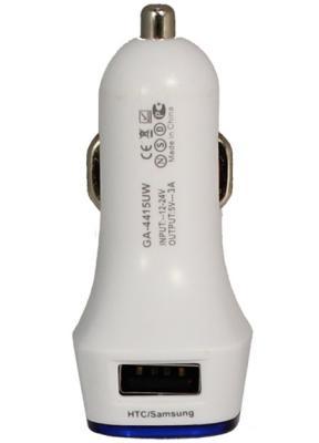Автомобильное зарядное устройство GINZZU GA-4415UW 2 х USB 3А белый автомобильное зарядное устройство ginzzu ga 4415uw 3а 2 х usb белый