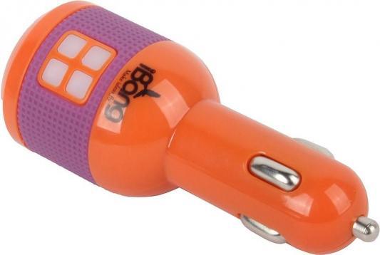 Автомобильное зарядное устройсто USB iBang Skypower - 1008 (для тел. и планшетов, 2 USB выхода, 5 В/2100 мА макс. (1600 мА + 500 мА), оранж+бел/сирен)