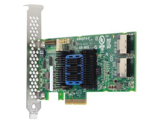 Контроллер Adaptec ASR-6805E (PCI-E v2 x4, LP) SGL контроллер sas sata adaptec asr 6805e pci e v2 8x 8 port raid jbod 0 1 10 1e 128mb cache 2270900 r sgl