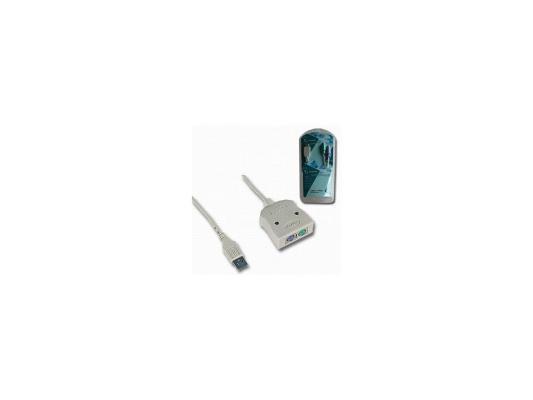 Кабель-адаптер USB AM <->2xPS/2 Gembird UAPS 12, блистер