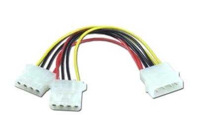 Кабель питания Molex(4pin) -2хMolex(2x4pin) Orient C397 5+12V, oem синхронизатор запуска двух блоков питания 2 psu atx24pin molex oem
