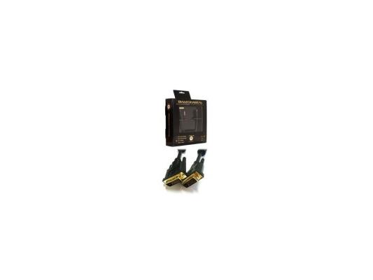 Кабель Konoos DVI-D dual link 3 м, черный, зол.разъемы, фер