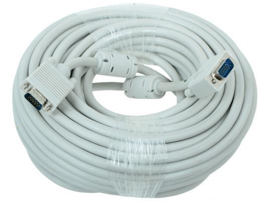 Кабель VGA Premium 15M/15M 20 м тройной экран, ферритовые кольца CC-PPVGA-20M кабель для монитора vga 15m 15m 15 0 метров cablexpert