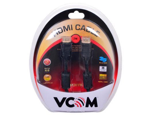 Кабель Vcom HDMI 19M/M ver:1.4-3D, 3m, позолоченные контакты, 2 фильтра <VHD6020D-3MB> Blister цена и фото