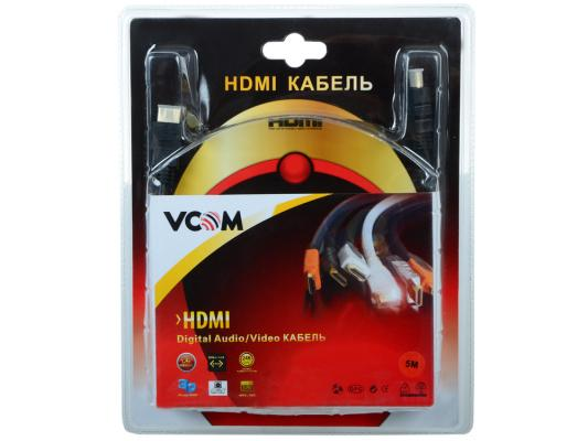 Кабель Vcom HDMI 19M/M ver:1.4-3D, 5m, позолоченные контакты, 2 фильтра <VHD6020D-5MB> Blister