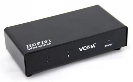лучшая цена Разветвитель Vcom HDMI Spliitter 1=>2 3D Full-HD 1.4v, каскадируемый HDP102 <VDS8040D>