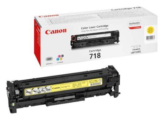 Тонер-картридж Canon 718 Y Sensys MF-8330/8350