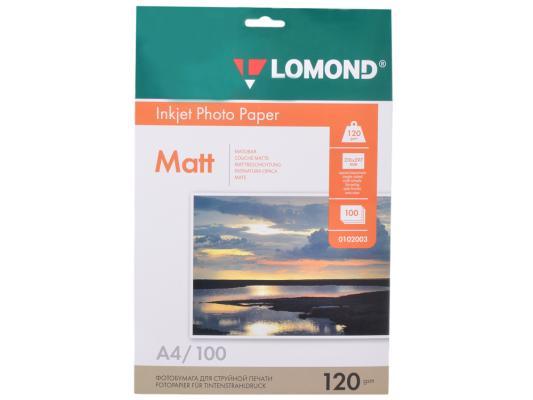 Бумага Lomond 0102003 (A4, 120гр, 100л) Photo Матовая, 1стор.