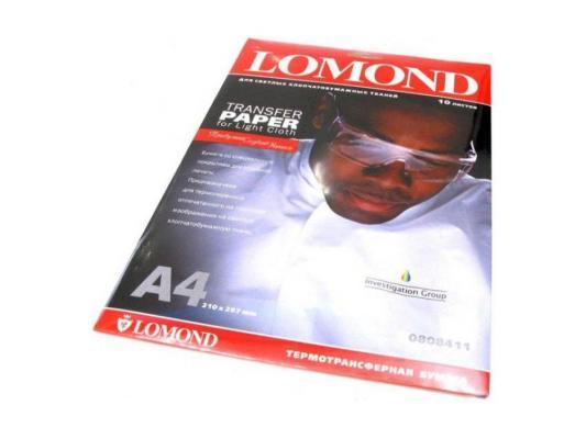 Бумага Lomond 0808411 (A4, 140гр, 10л) термоперев. светлые ткани, для струйных бумага д паст палаццо 350 500 ashes коричневый 10л 160г бра b3