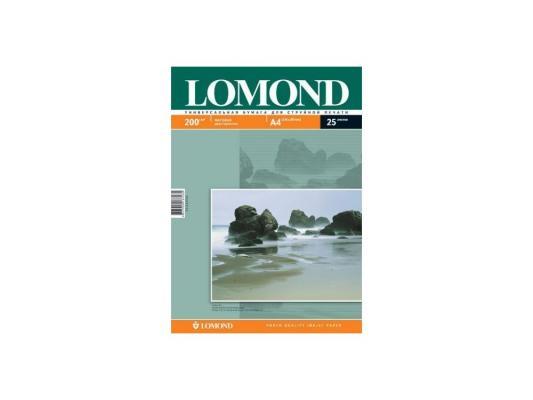 Бумага Lomond 0102052 (A4, 200гр, 25л) Photo Матовая , 2 стор.