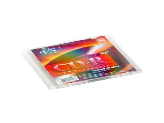 Диски CD-R 80min 700Mb  VS  52х   Slim диск cd r vs 80 52x sl 1шт