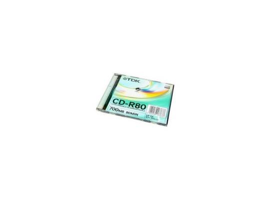 Диск   CD-R 80min 700Mb ТDK 52x  Slim 18763