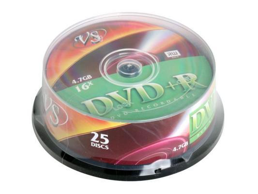 Диски DVD+R 4.7Gb VS 16х  25 шт  Cake Box