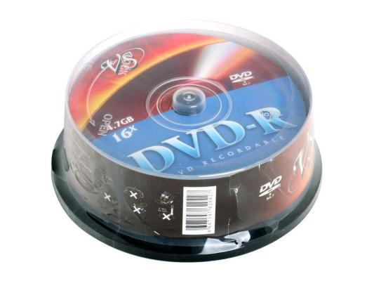 Диски DVD-R 4.7Gb VS 16х 25 шт Cake Box dvd r vs 4 7gb 16х 10шт cake box