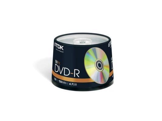 Диски DVD-R 4.7Gb TDK 16x  50 шт  Cake Box