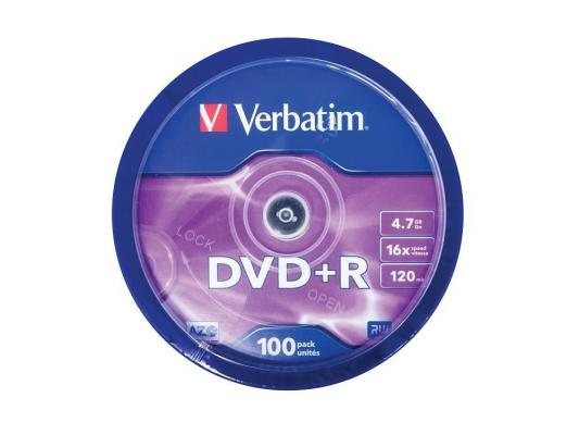 Диски DVD+R 4.7Gb Verbatim 16x 100 шт Cake Box <43551> michael groh r access 2010 bible