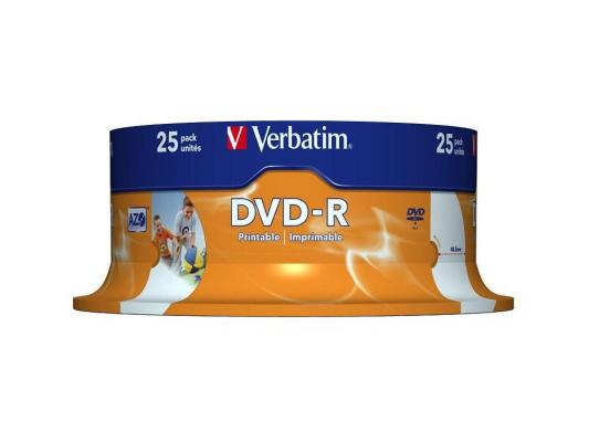 ����� DVD-R 4.7Gb Verbatim 16� 25 �� Cake Box Printable