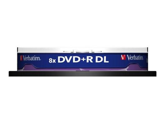 Диски DVD+R 8.5Gb Verbatim 8x  10 шт  Cake box  Dual Layer  <43666>