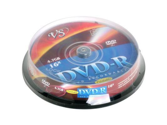 ����� DVD-R 4.7Gb VS 16� 10 �� Cake Box Printable 62079