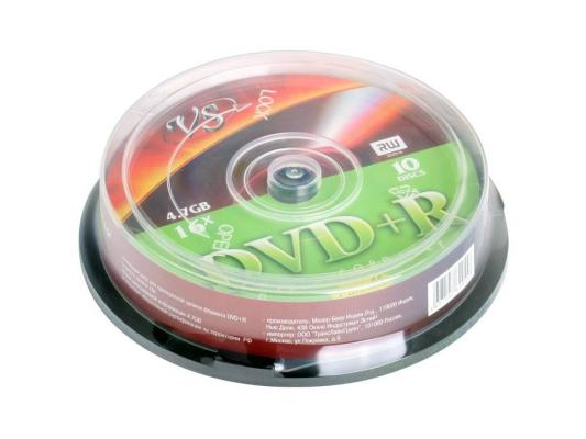 Диски DVD+R 4.7Gb VS 16х  10 шт  Cake Box printable dvd r vs 4 7gb 16х 10шт cake box