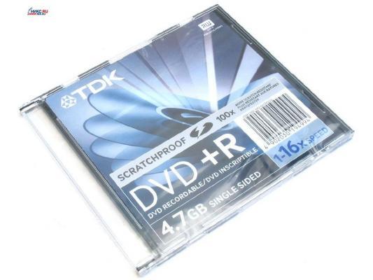 ���� DVD+R 4.7Gb TDK 16x SlimCase 19447