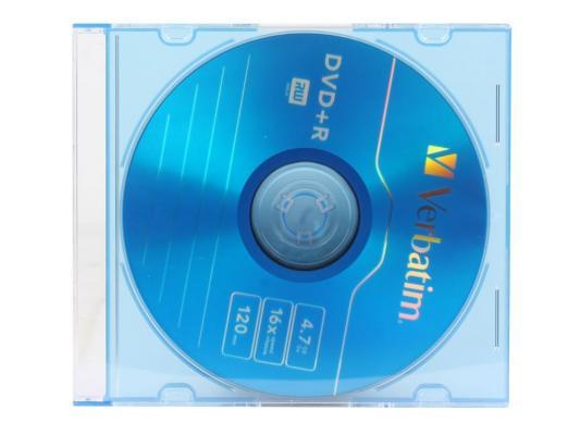 Диск DVD+R 4.7Gb Verbatim 16x (5шт) Slim (556) диск dvd r 4 7gb 16x bulk 50 шт vs